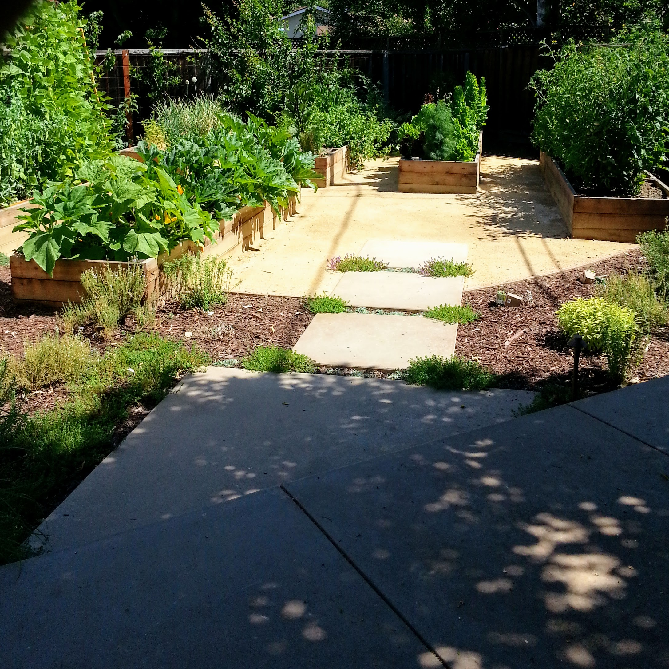 Mountain View Landscape Vegetable Garden Raised Beds