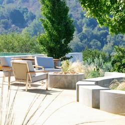 Los Gatos Modern Landscape Concrete Fire Pit