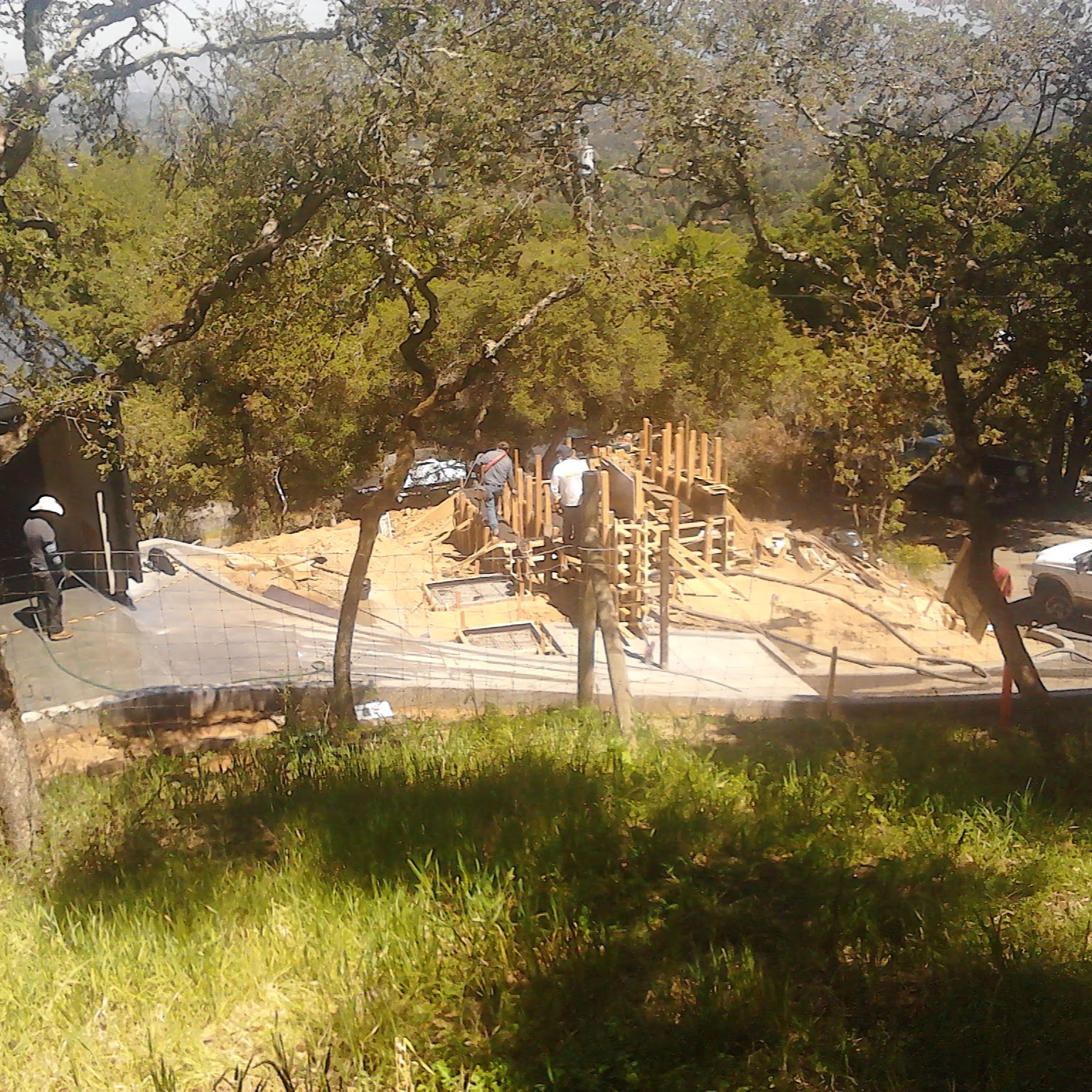 Los Gatos  California Modern Landscape Progress 10