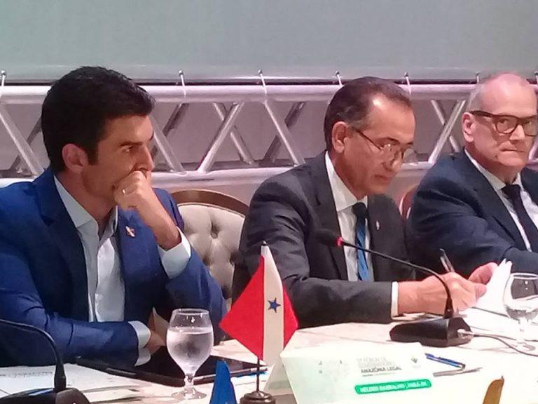 Governador do Pará, Helder Barbalho; Governador do Amapá, Waldez Góes e vice-governador (AP), Jaime Nunes