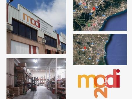 Capacidad de almacenamiento y logística de MODI
