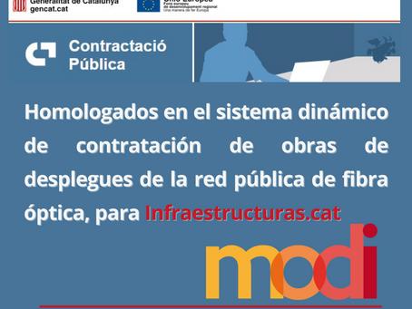 HOMOLOGACIÓN DE MODI COMO EMPRESA LICITADORA PARA DESPLIEGUES DE RED DE FIBRA ÓPTICA
