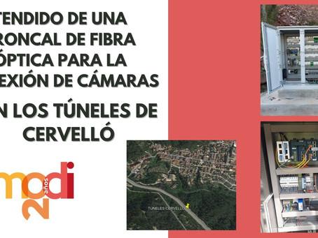 TENDIDO DE TRONCAL DE FIBRA ÓPTICA PARA DAR CONECTIVIDAD A VARIAS CÁMARAS SE SEGURIDAD VIAL