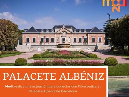 MODI REALIZA UNA ACTUACIÓN DE FO EN EL PALACETE ALBENIZ DE BARCELONA