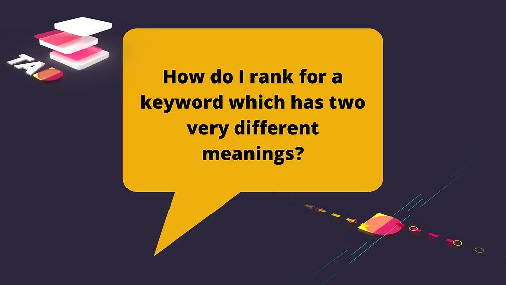 ranking for a keyword