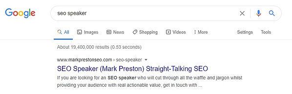 SEO Speaker Ranking