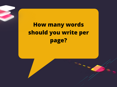 How many words should you write per page?