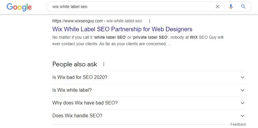 Wix White Label SEO