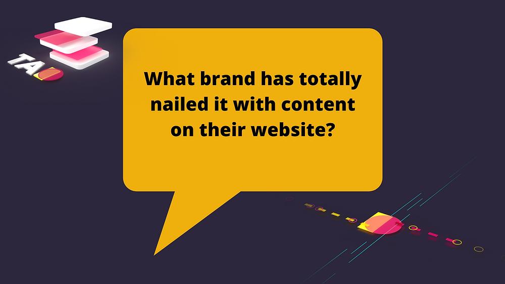 best brand content