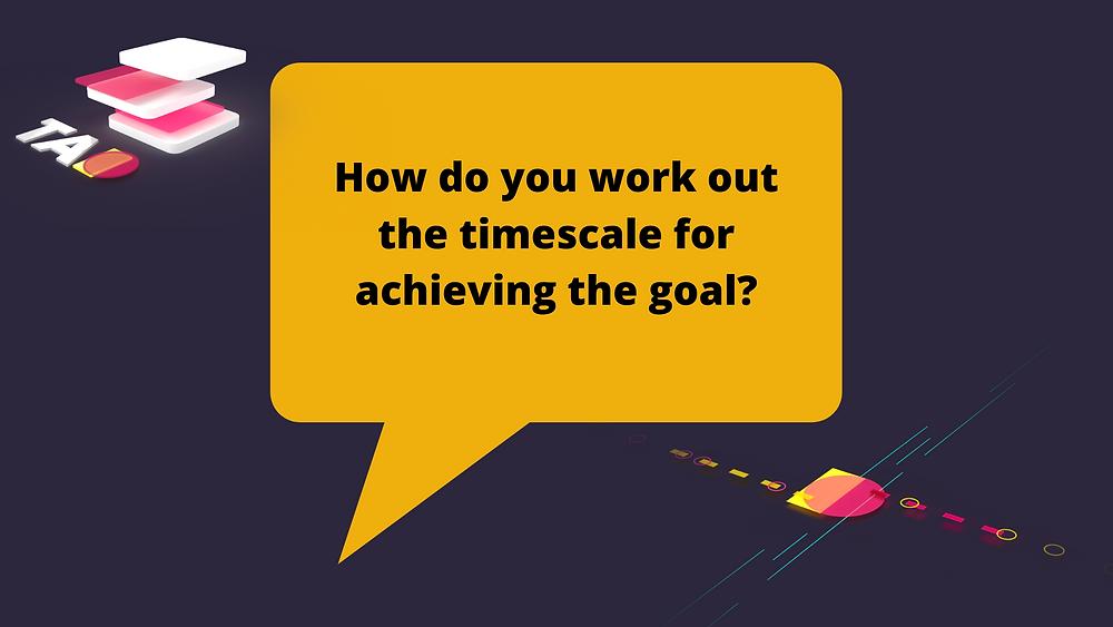 SEO goal timescale