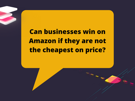 Can businesses win on Amazon if they are not the cheapest on price?