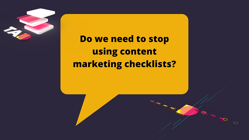 content marketing checklists