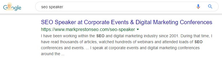 SEO Speaker Rankings