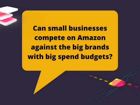 Can small businesses compete on Amazon against the big brands with big spend budgets?