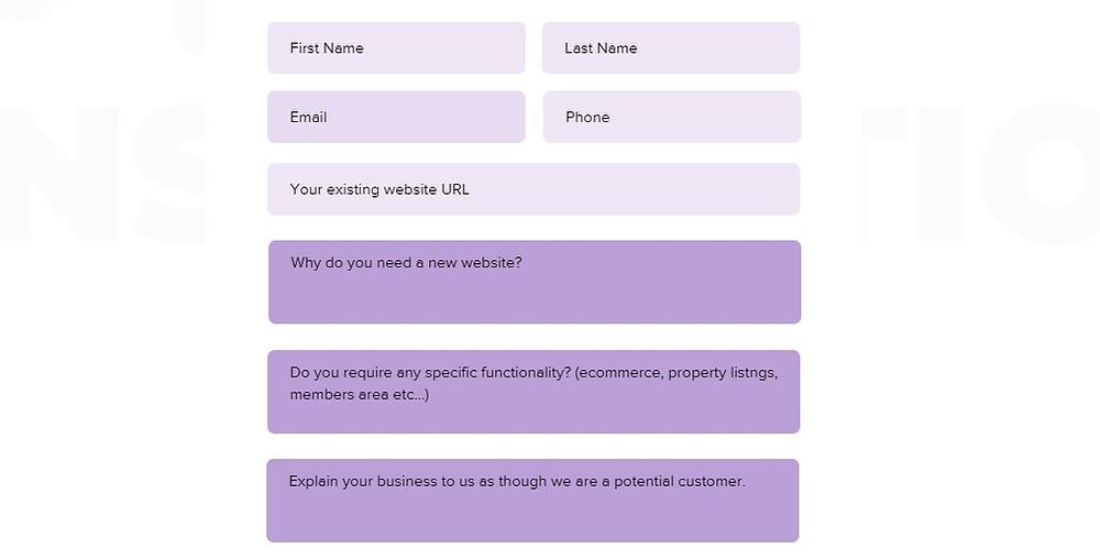 website design leads