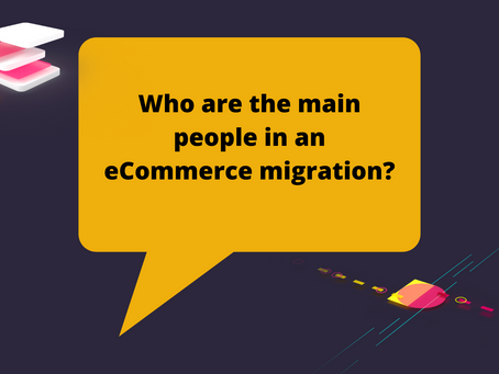 Who are the main people in an eCommerce migration?
