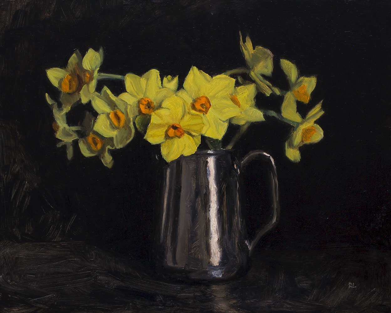 Narcissi in a Silver Jug
