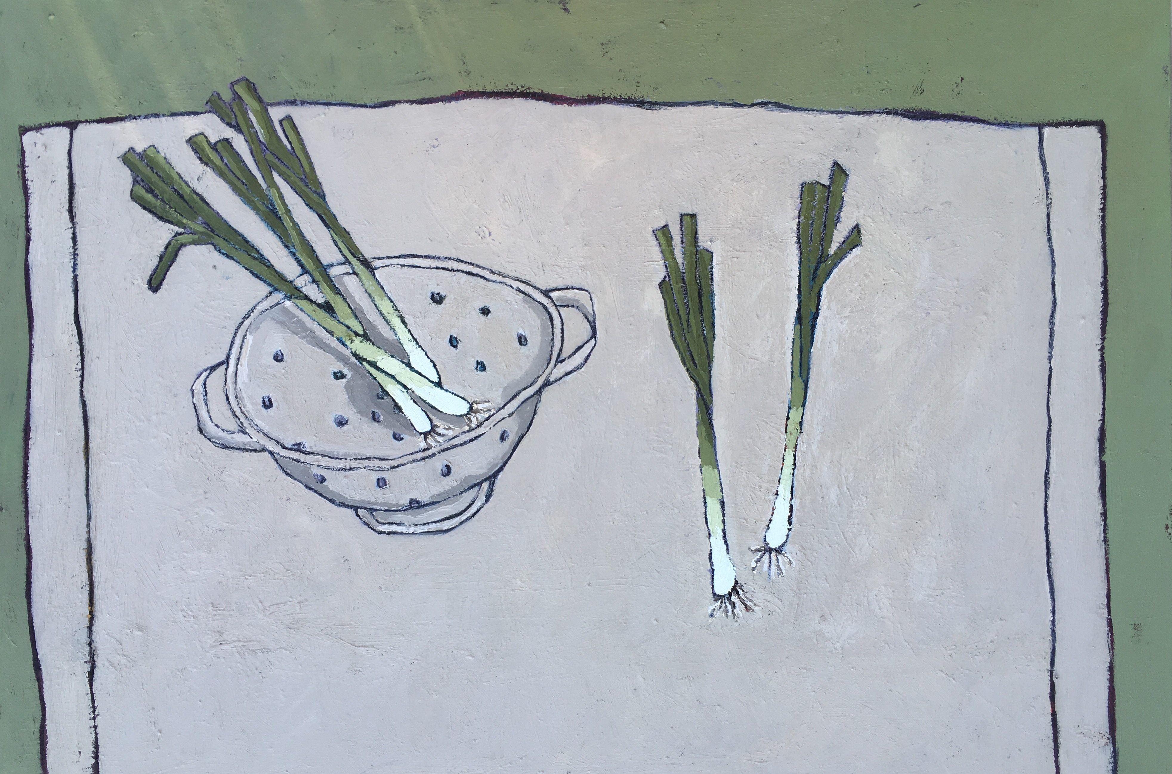 Five Spring Onions