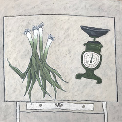 Leeks and household scales
