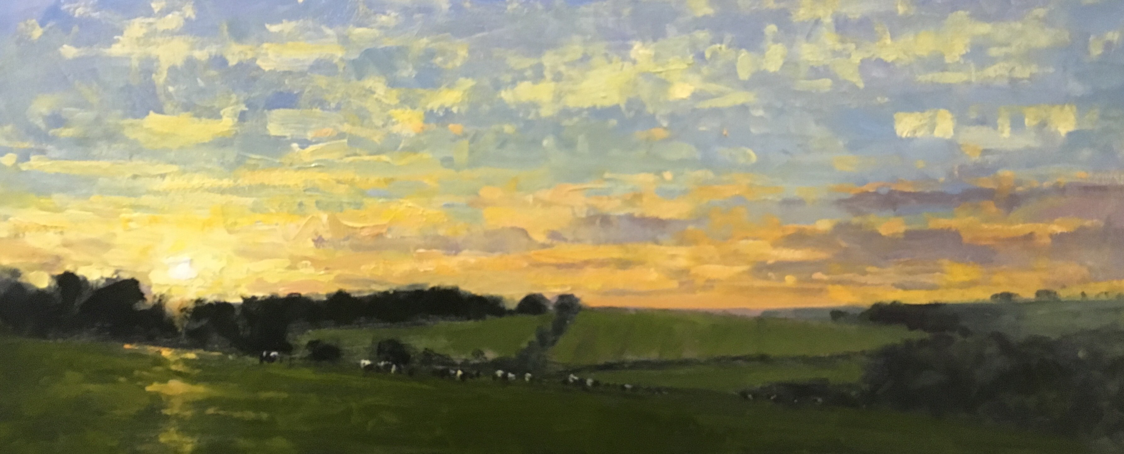 Sunset at Poundbury Hillfort