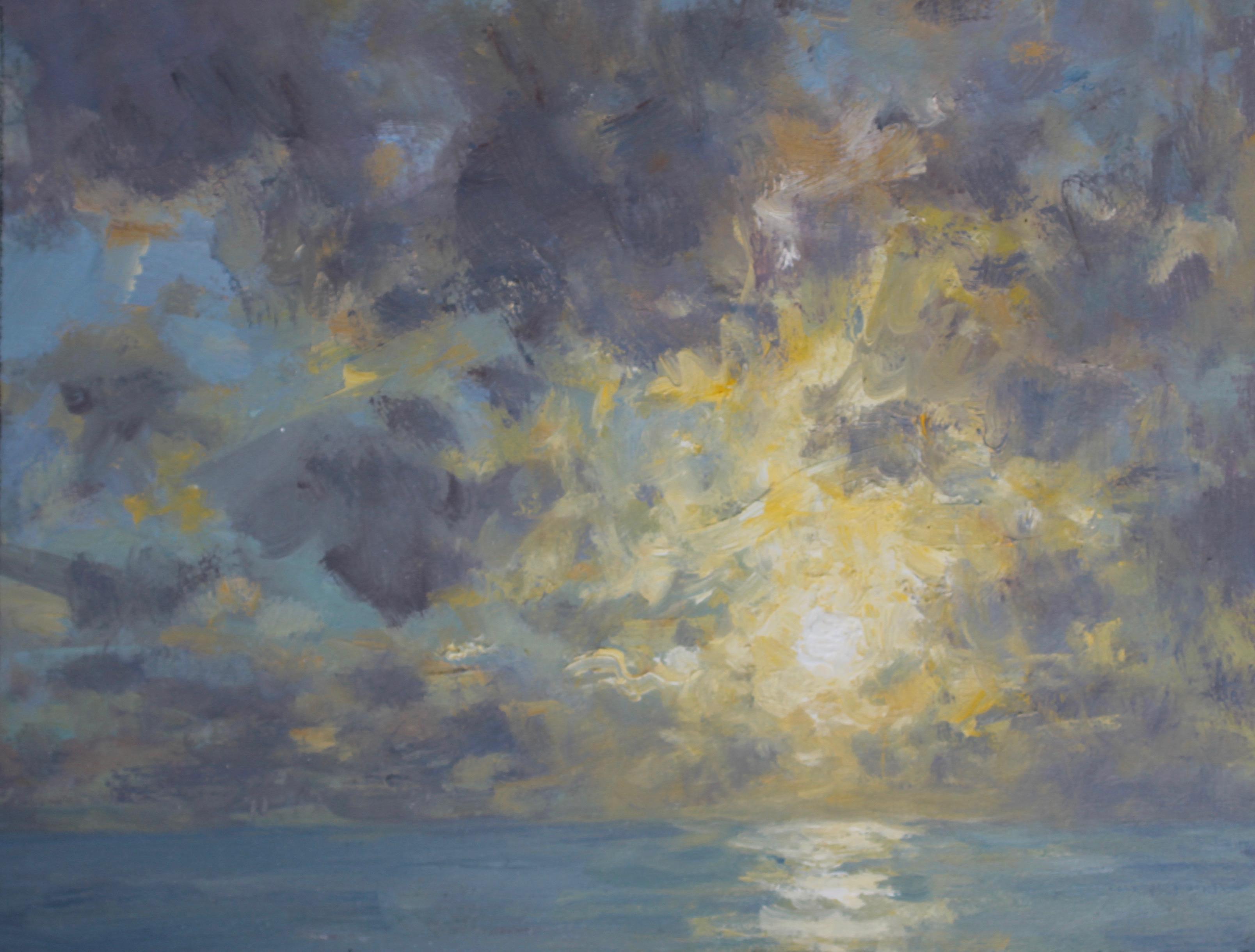 Evening Sky Over the Sea
