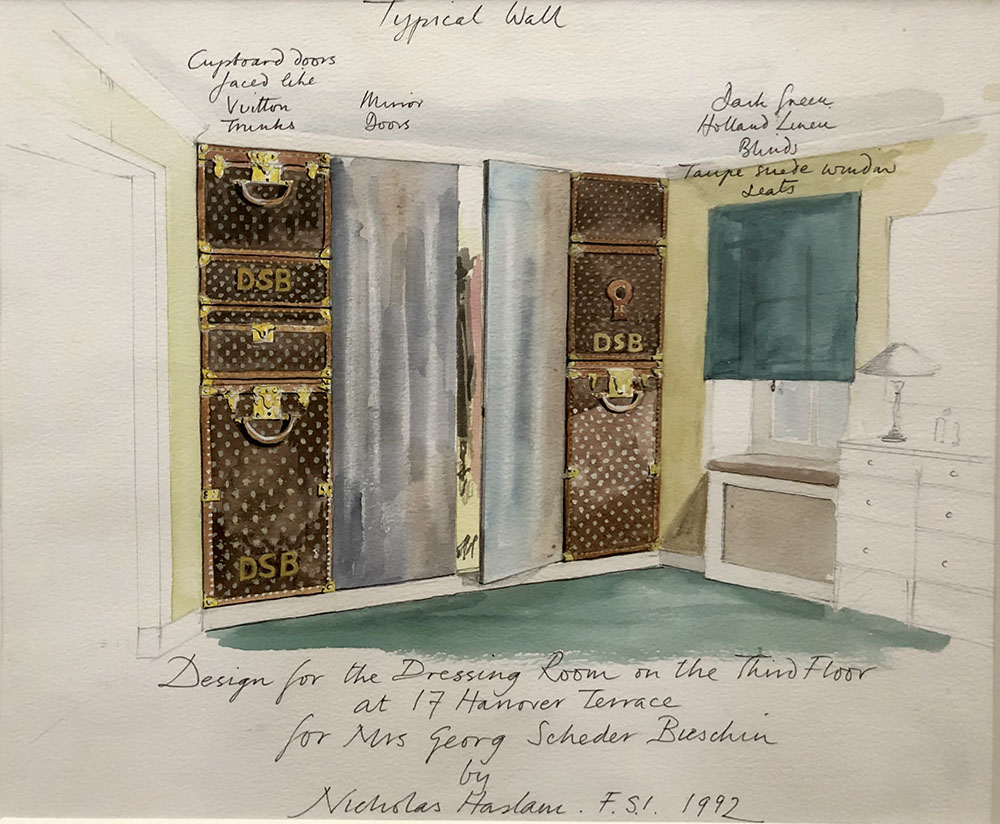 Design for the Dressing Room on the Third Floor at 17 Hanover Terrace for Mrs Georg Scheder Beishin