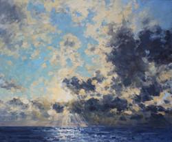 Light Burst over the Sea,
