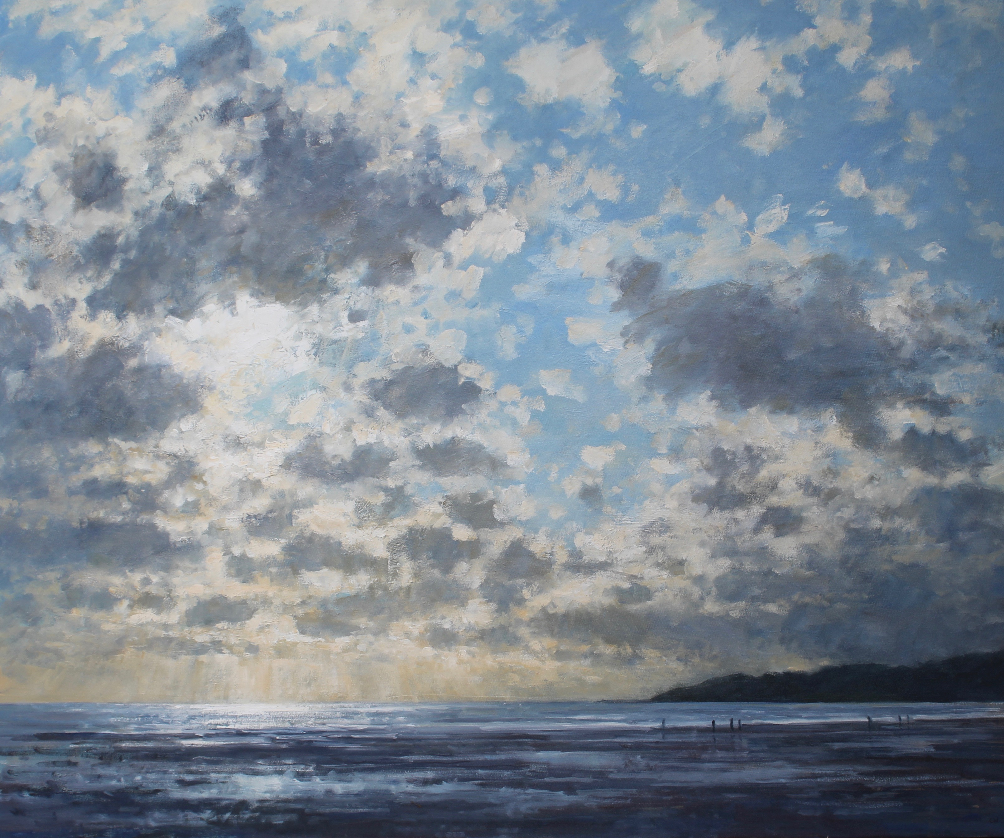 Sunlight and clouds, Charmouth