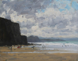 Surfers at Watergate Bay 127
