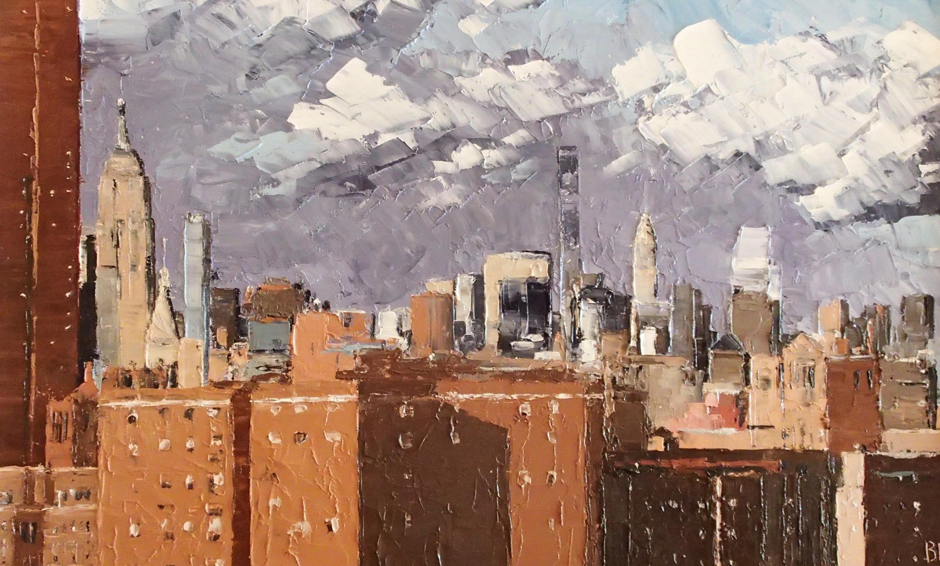 After rain, New York City