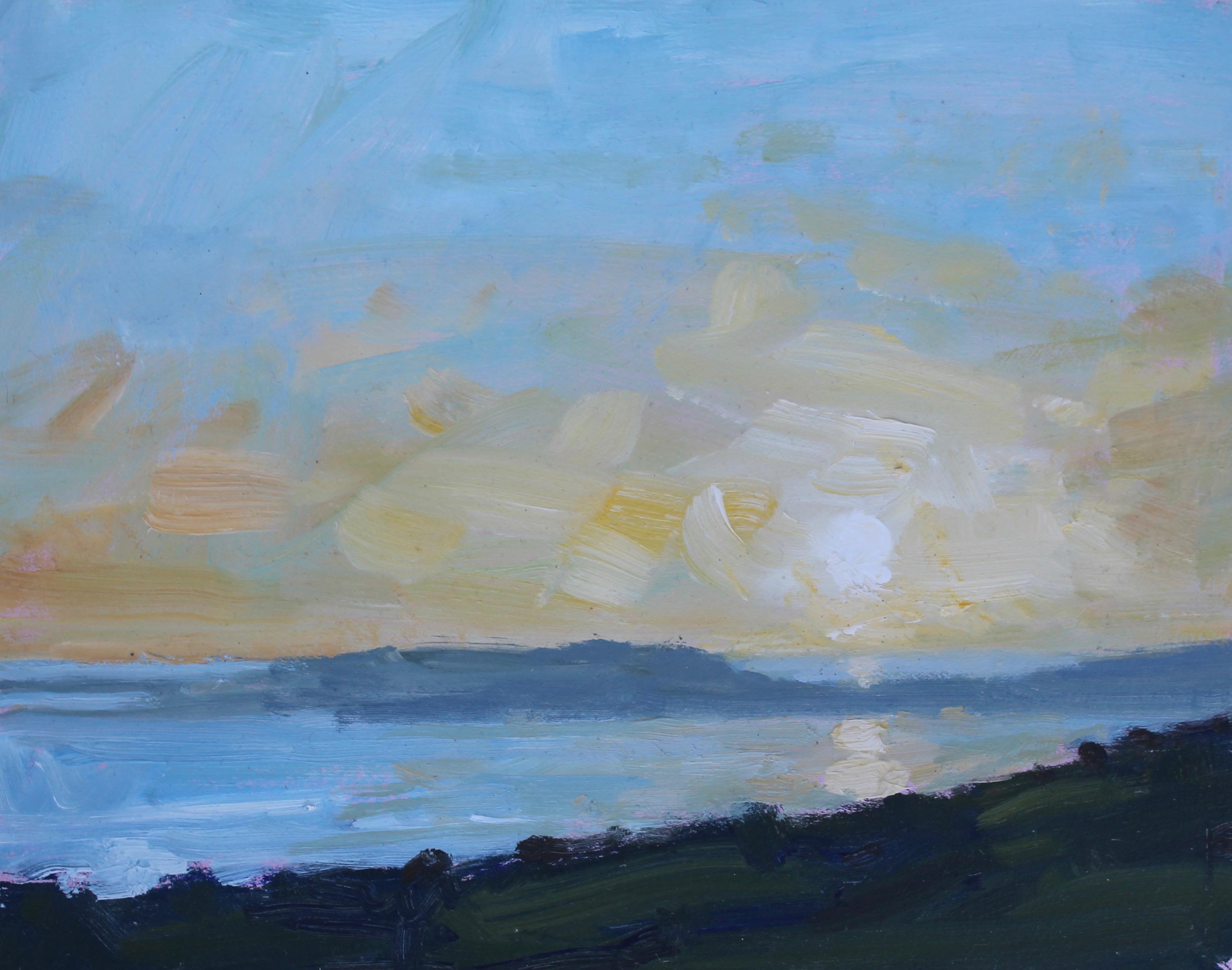 Sinking sun, Weymouth Bay
