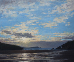 Evening light Porth Beach