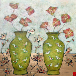 Still Life with Chartreuse Vases