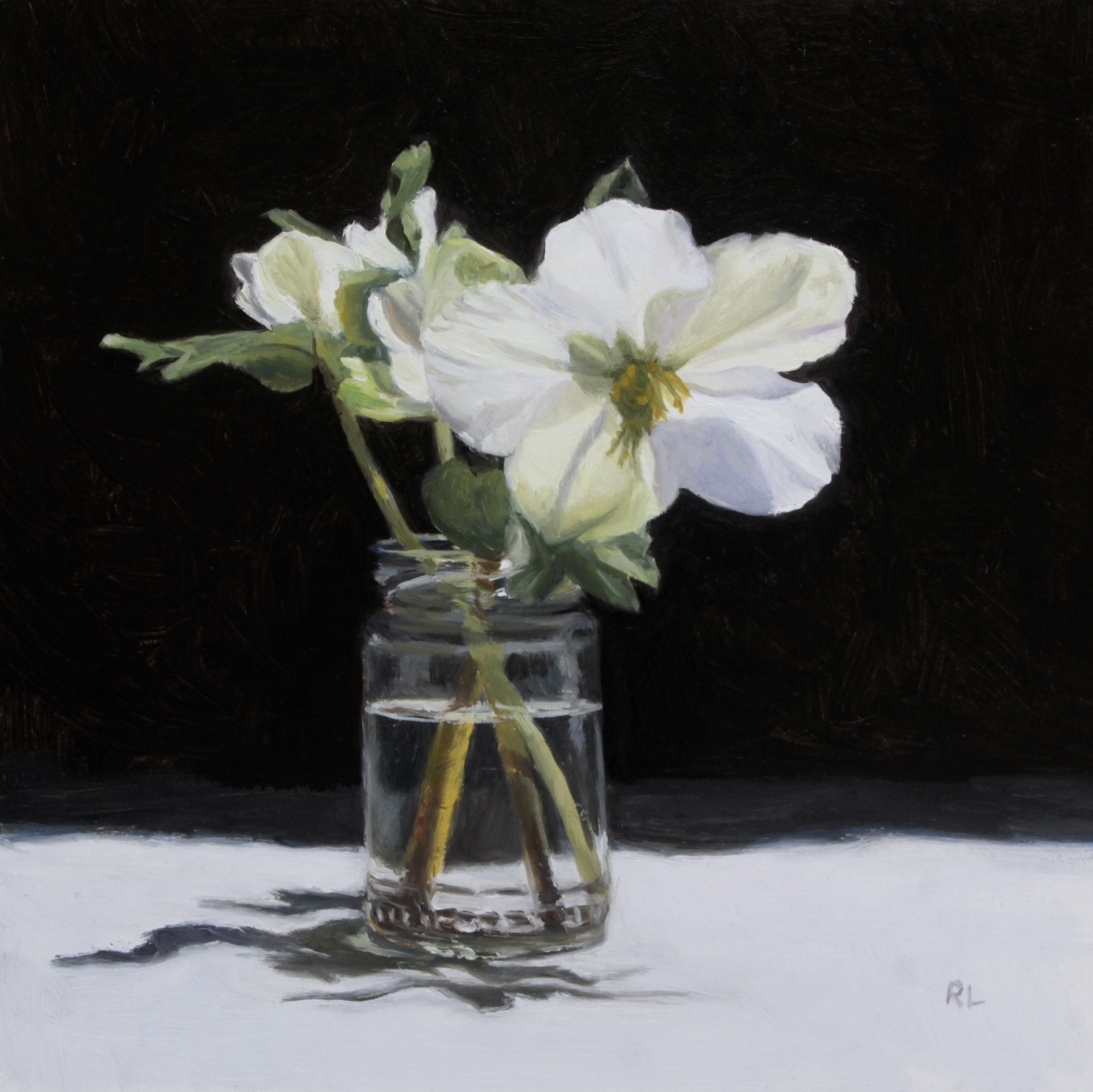 Hellebores in a Glass Jar