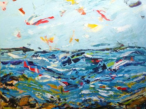 Blue Patchwork Landscape, Steve Williams