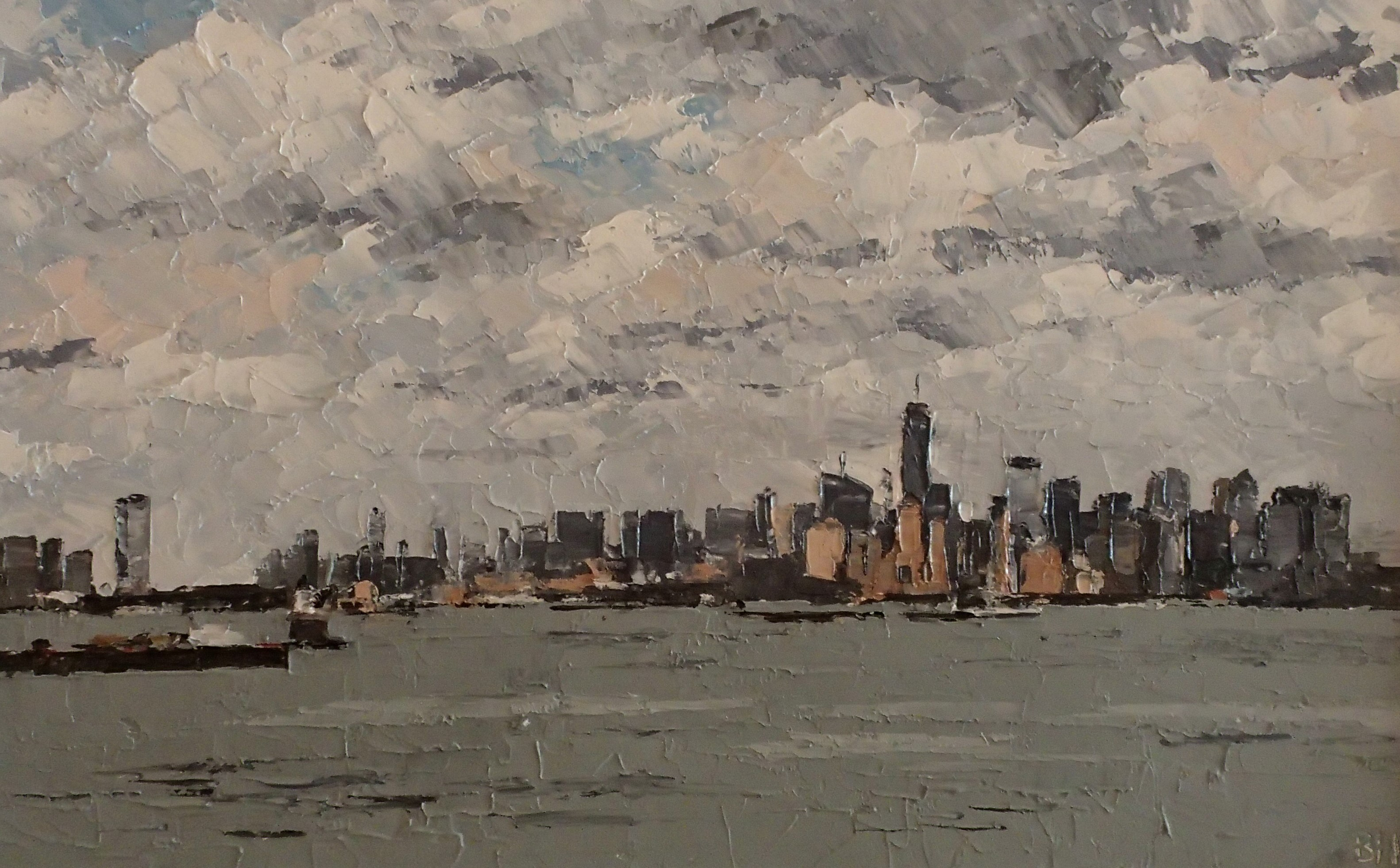 Clearing cloud, New York City