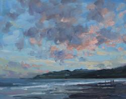 Evening Clouds Over Lyme Regis