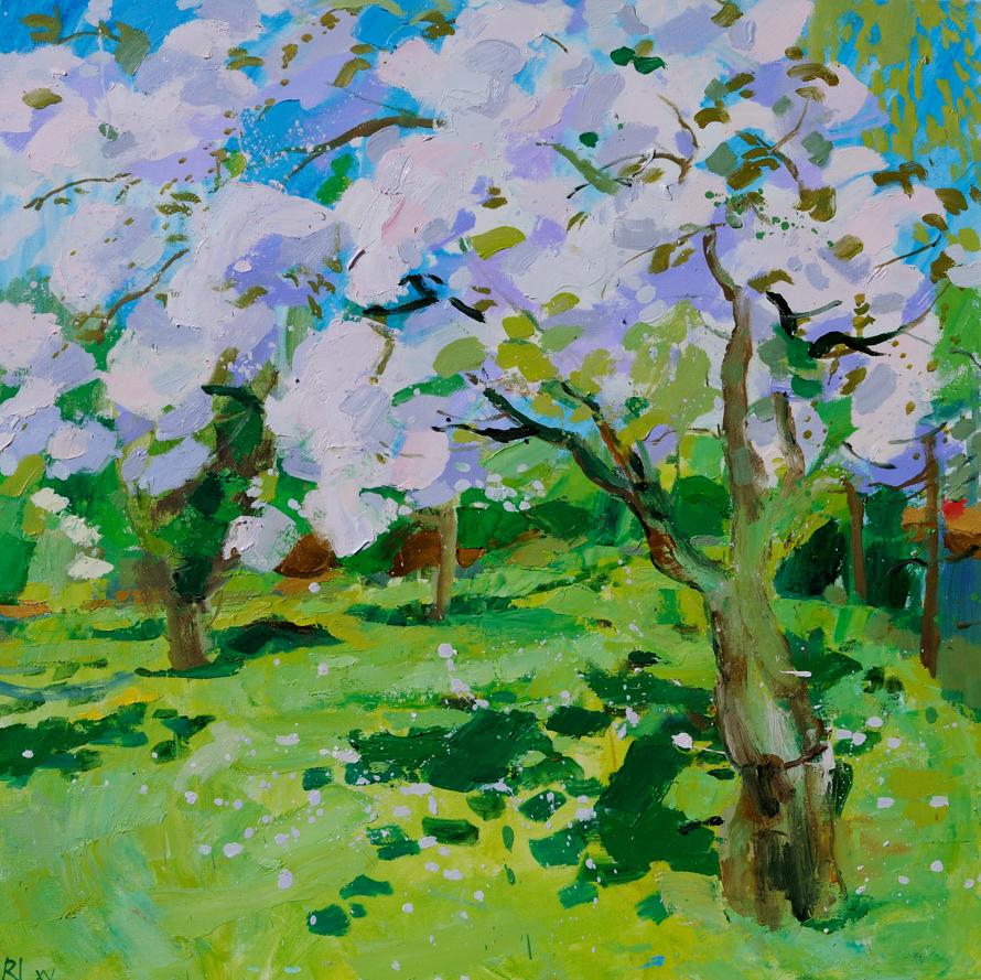 SOLD Cherry blossom 80x80 8