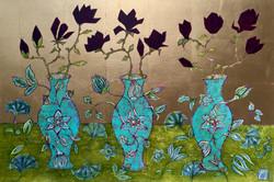 Black Magnolias & Trinity of Vases