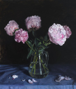 Peonies in a Glass Jug