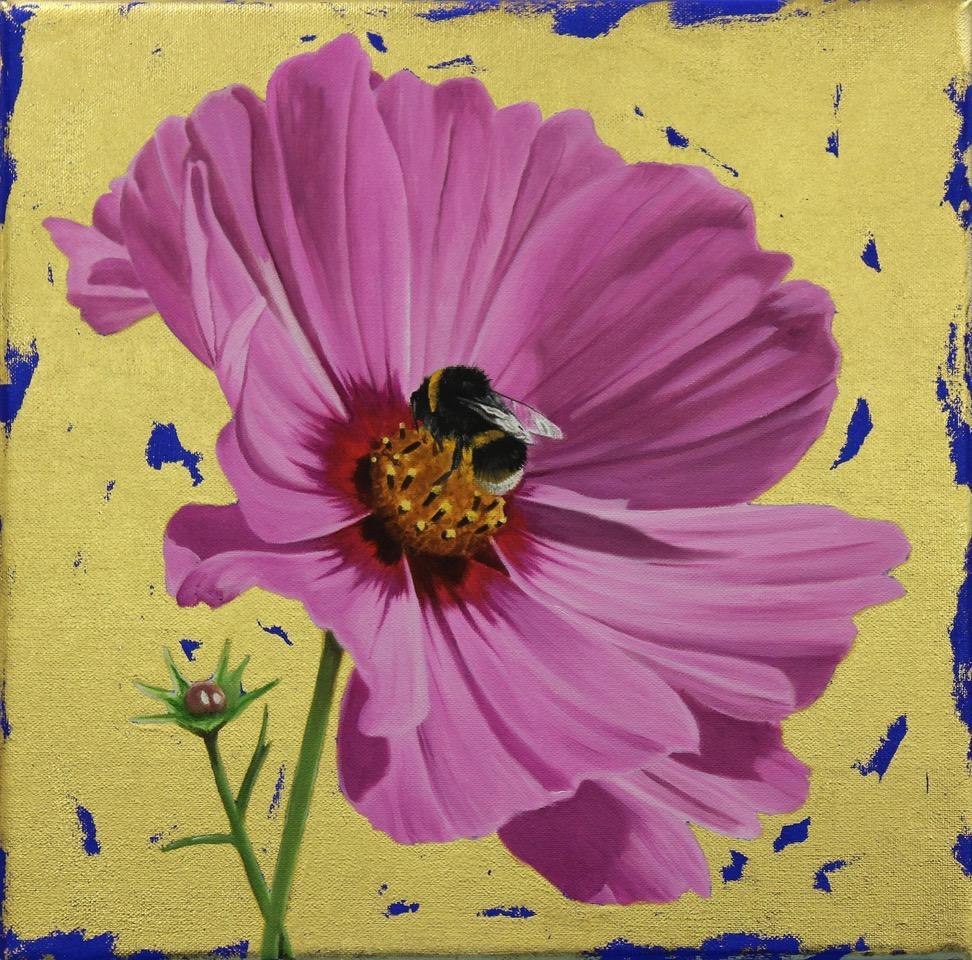 Pink Cosmos & Bumblebee