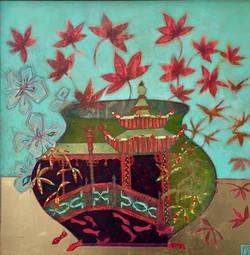 Pagoda & Maple Leaves