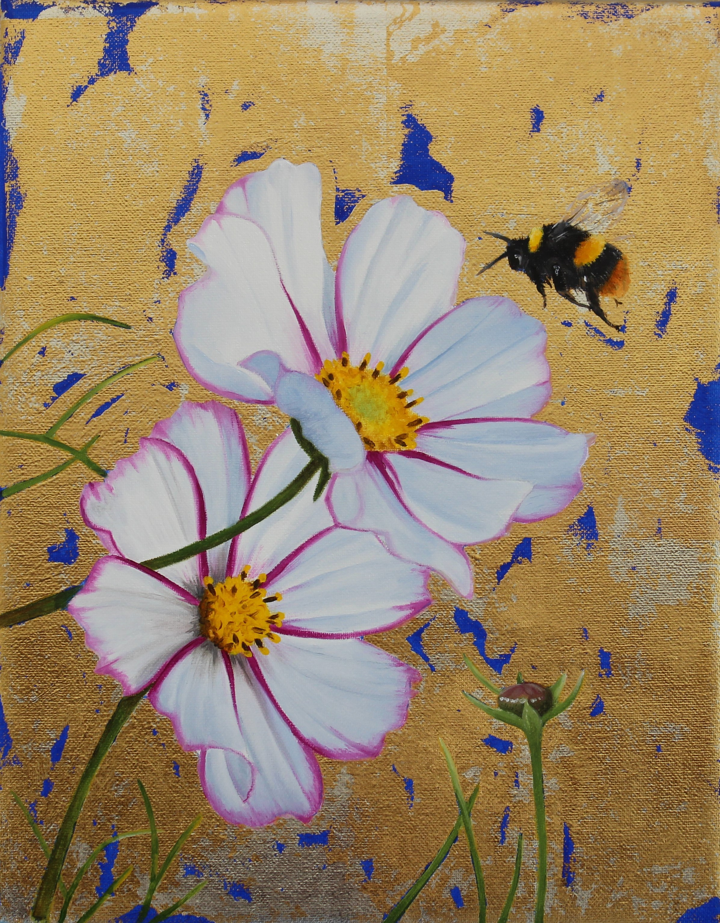 White Cosmos & Early Bumblebee