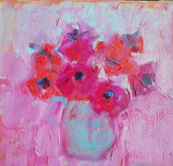 Anemone On Pink