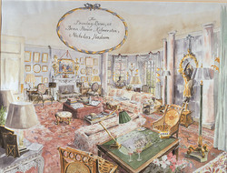 The Drawing Room at Dean House, Kilmerston for Mr and Mrs Phillip Gwyn, 1987