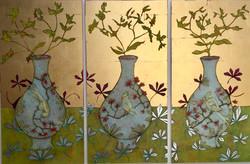 Gilding The Euphorbia (Triptych)