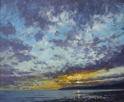 Sunset at Charmouth Beach,