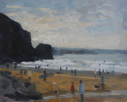 Surfers and Dog Walkers, Watergate Bay 128