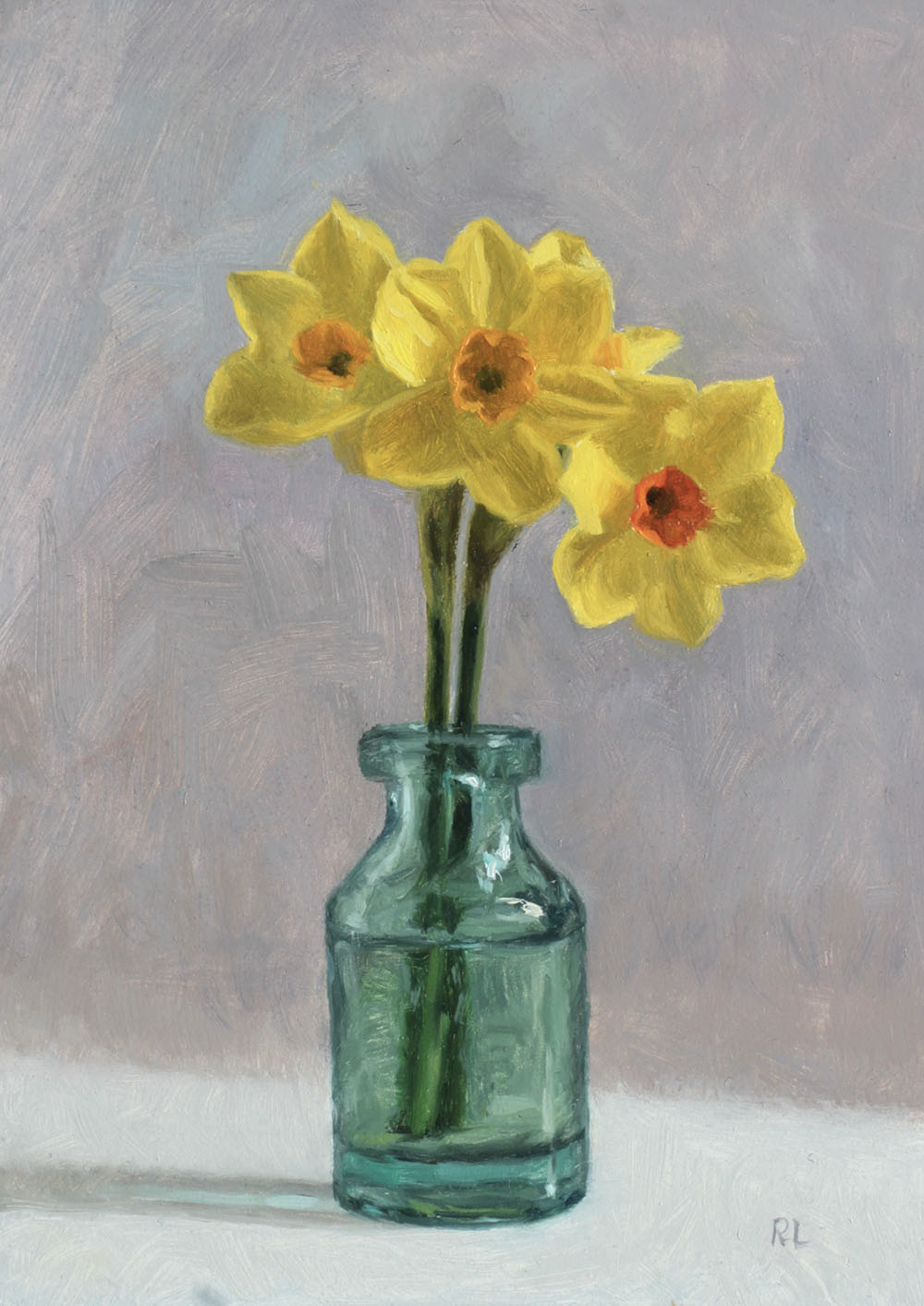 Narcissi in a Glass Bottle