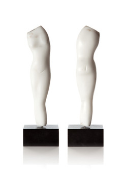 Nude (front & back views)